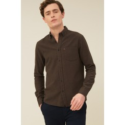 LEXINGTON PETER LIGHT FLANNEL SHIRT BROWN MELANGE