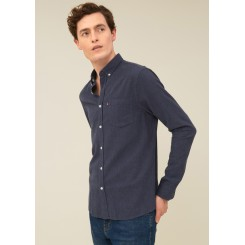 LEXINGTON PETER LIGHT FLANNEL SHIRT INDIGO