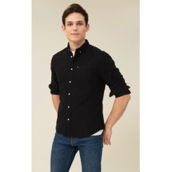 LEXINGTON KYLE ORGANIC COTTON OXFORD SHIRT BLACK