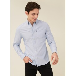 LEXINGTON KYLE ORGANIC COTTON OXFORD SHIRT LIGHT BLUE