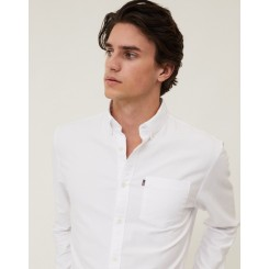 LEXINGTON KYLE ORGANIC COTTON OXFORD SHIRT WHITE