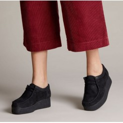 CLARKS WALLACRAFT BLACK SUEDE.